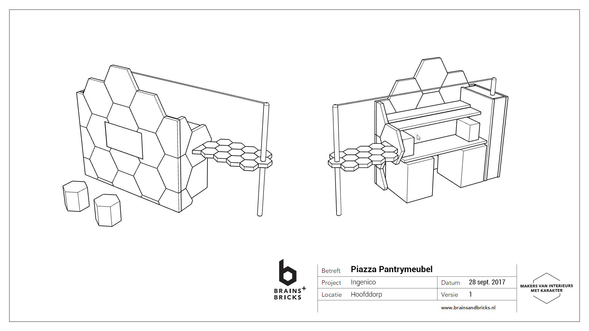 CAD design furniture - CAD rendering