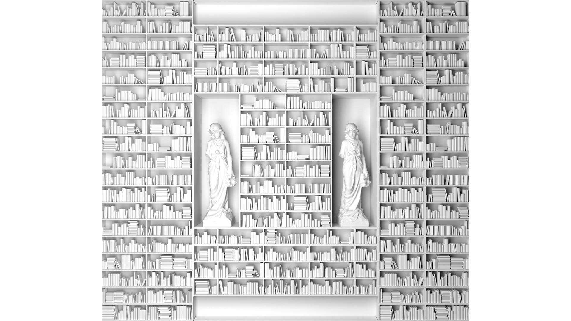 ESC - bookshelf 3d render